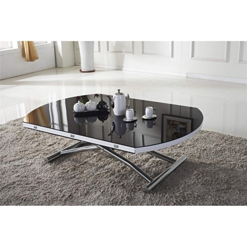 Table relevable design ou classique au meilleur prix - Table basse relevable noire ...