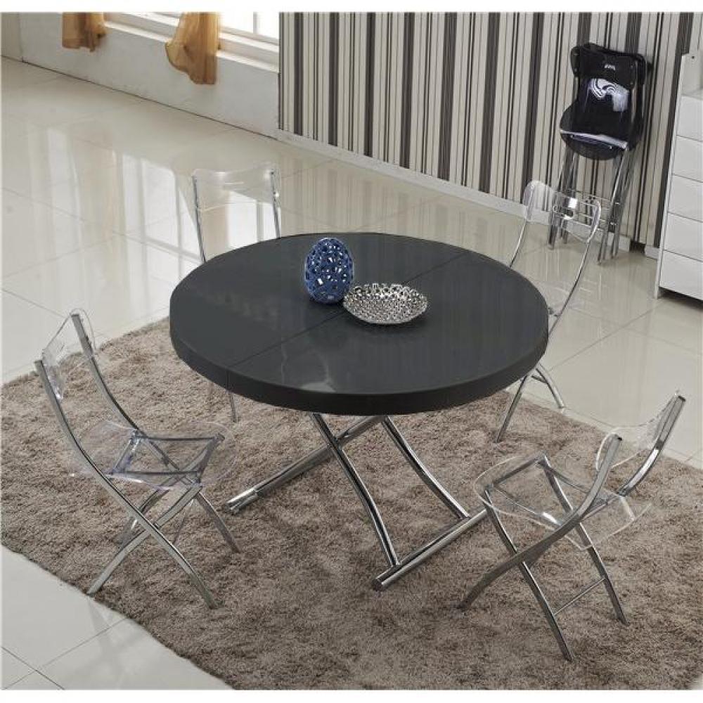 Table relevable design ou classique au meilleur prix table basse ronde relev - Table basse ronde noire ...