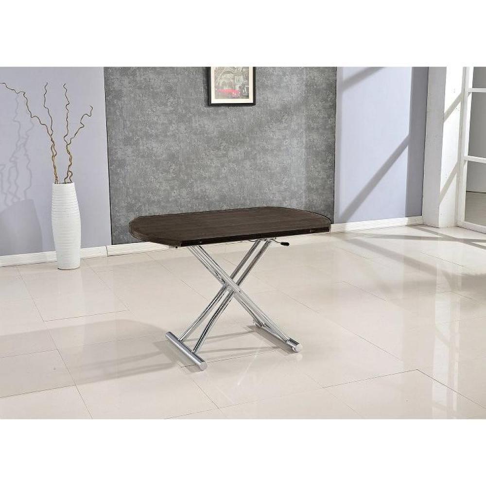 Table basse carr e ronde ou rectangulaire au meilleur prix table basse ronde relevable et - Table basse ronde wenge ...