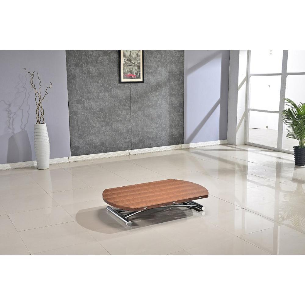 Table relevable design ou classique au meilleur prix table basse ronde relevable et extensible - Table basse ronde wenge ...