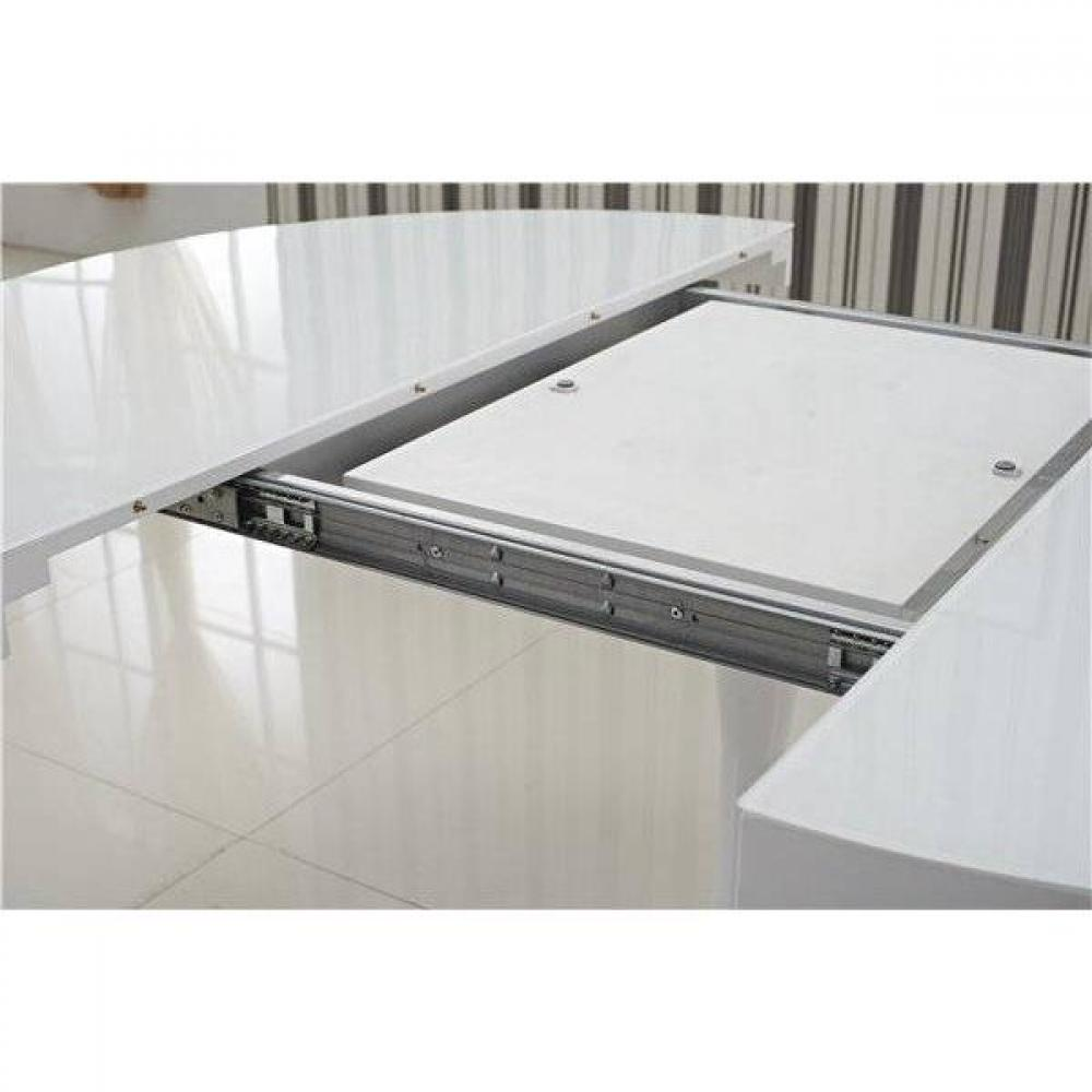 Tables design au meilleur prix table ronde extensible for Table ronde laquee blanc extensible