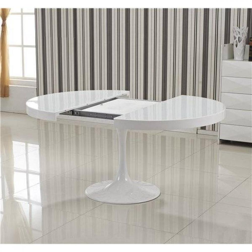Tables design au meilleur prix table ronde extensible for Table ronde pied tulipe