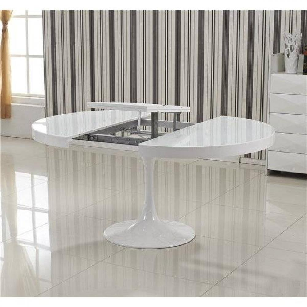 table de repas design au meilleur prix table ronde extensible tulipe blanche inside75. Black Bedroom Furniture Sets. Home Design Ideas
