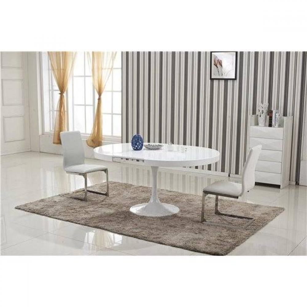 Table de repas design au meilleur prix table ronde for Table ronde tulipe extensible
