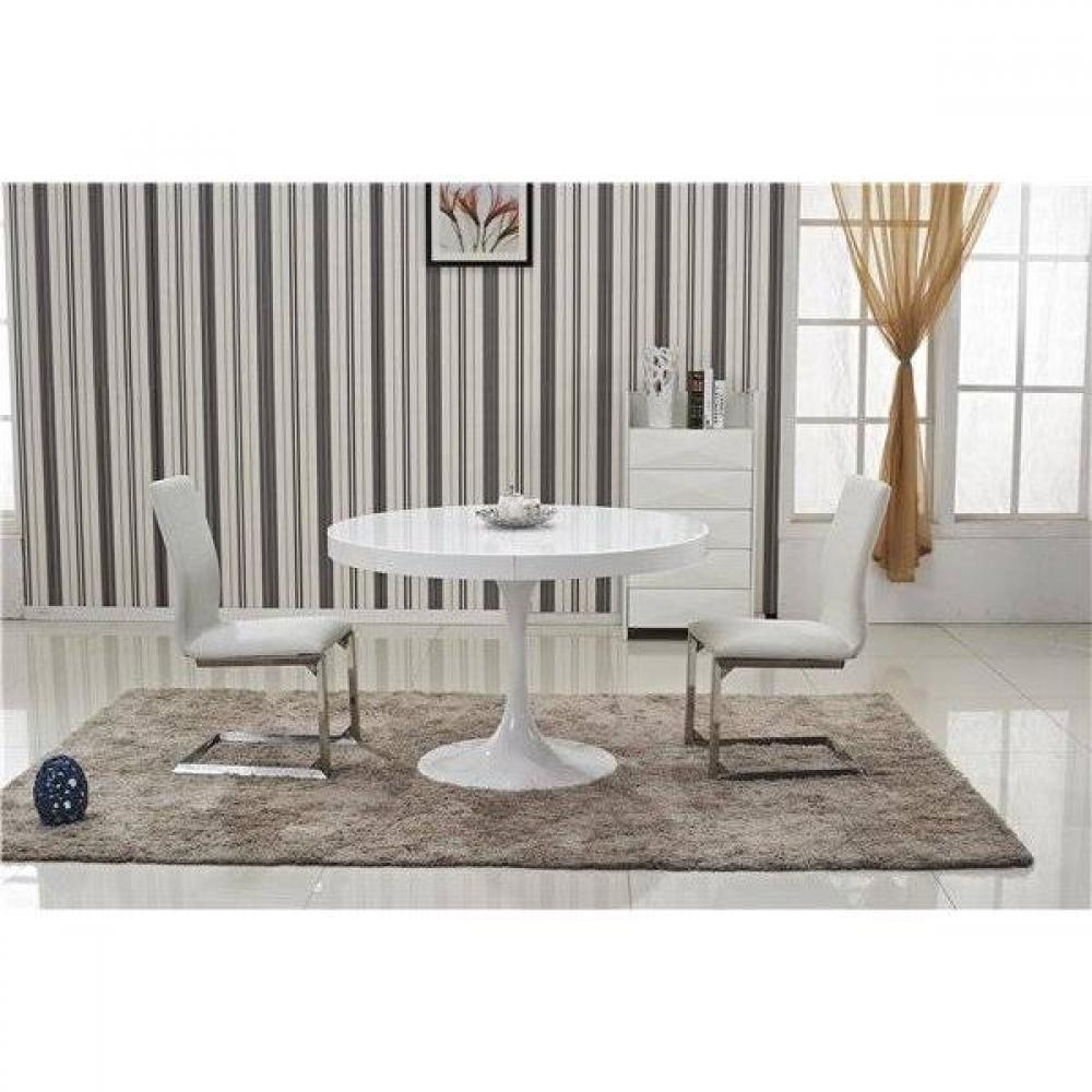 Tables design au meilleur prix table ronde extensible tulipe blanche inside75 - Table ronde extensible blanche ...