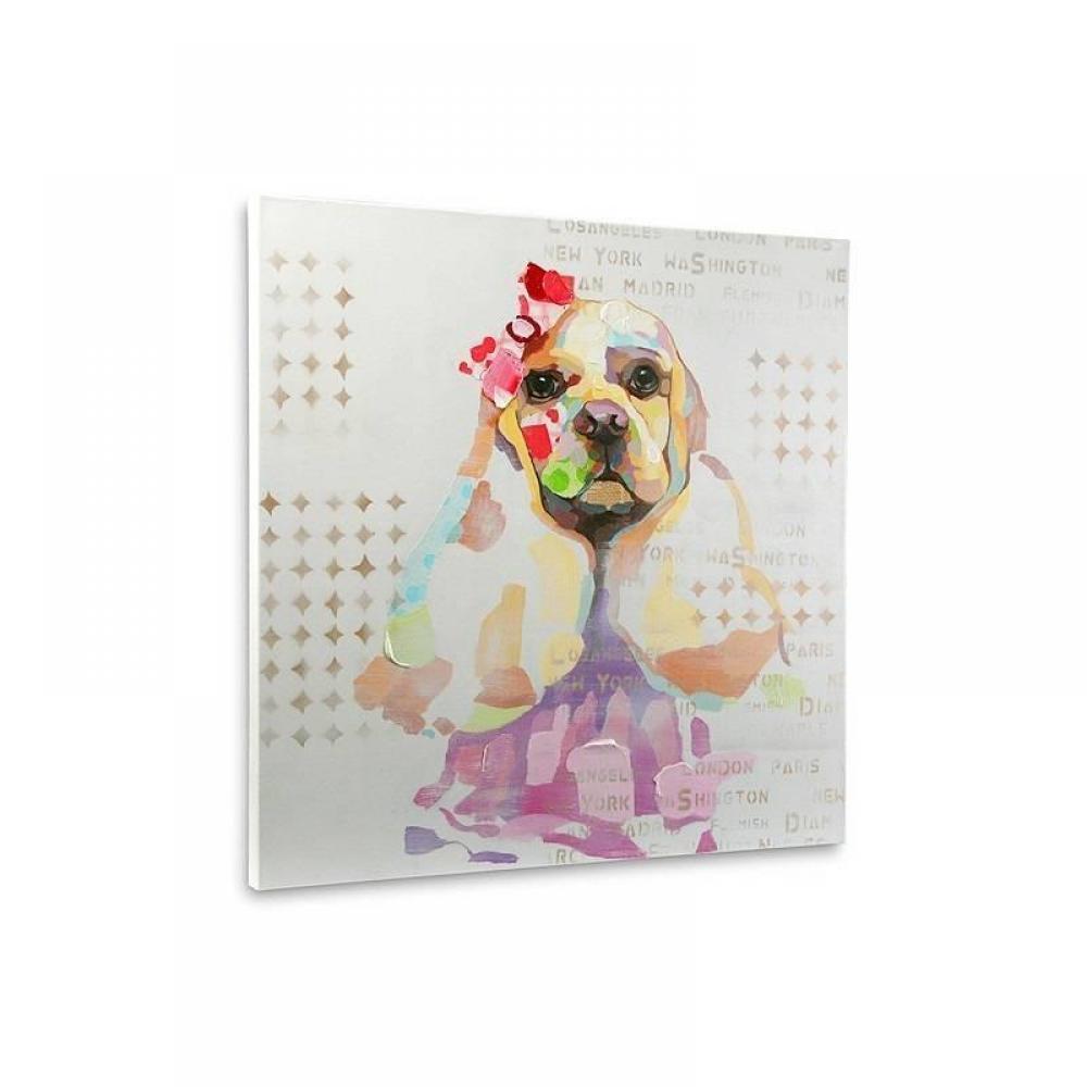 Tableaux et toiles luminaires tableau dogiz 80x80 cm - Tableau colore design ...