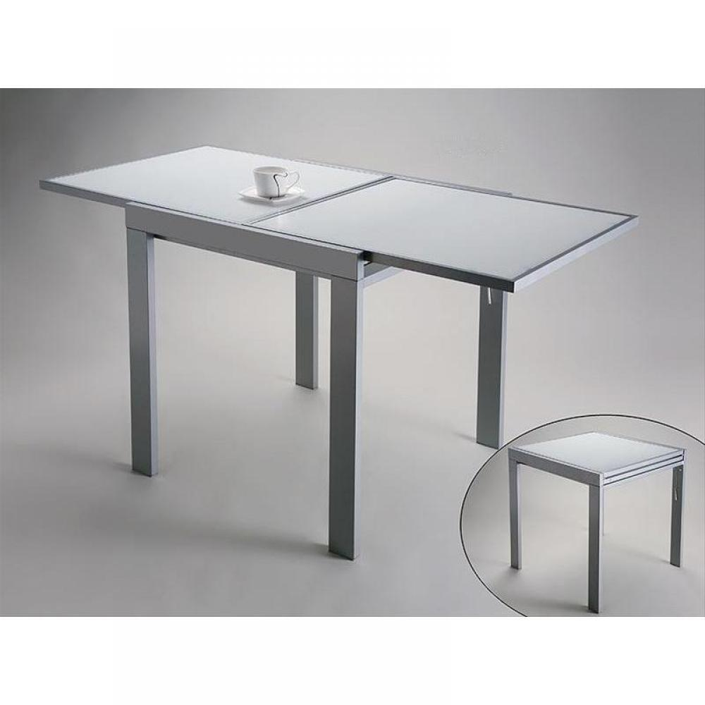 Tables repas meubles et rangements table design for Table extensible verre blanc