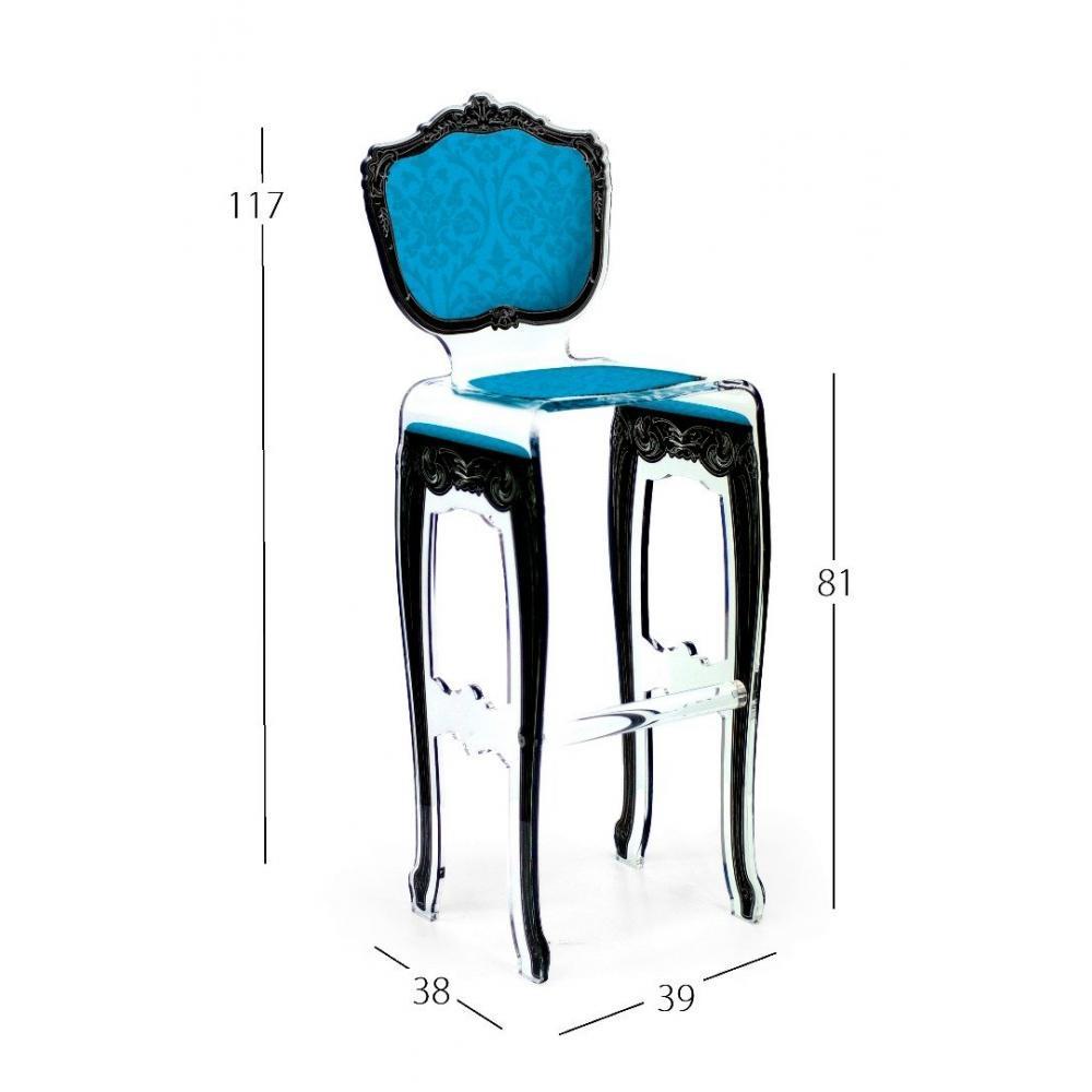 chaises meubles et rangements tabouret de bar barok bleu. Black Bedroom Furniture Sets. Home Design Ideas