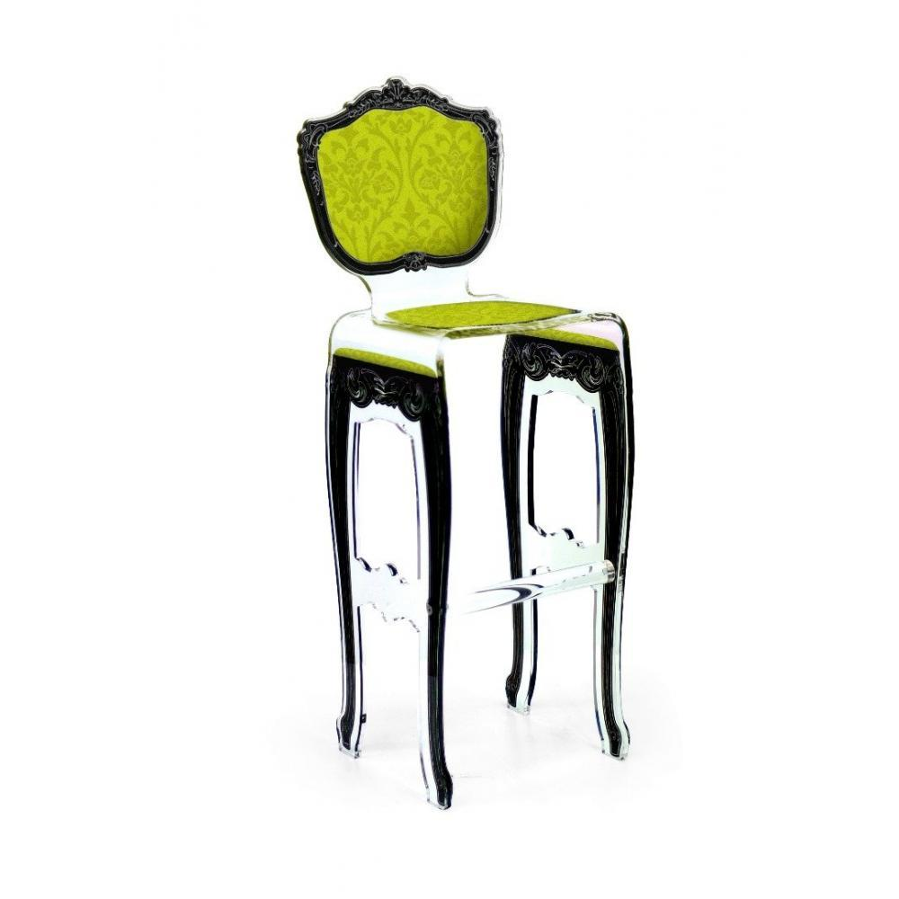 chaises meubles et rangements tabouret de bar barok jaune en plexi par acrila inside75. Black Bedroom Furniture Sets. Home Design Ideas