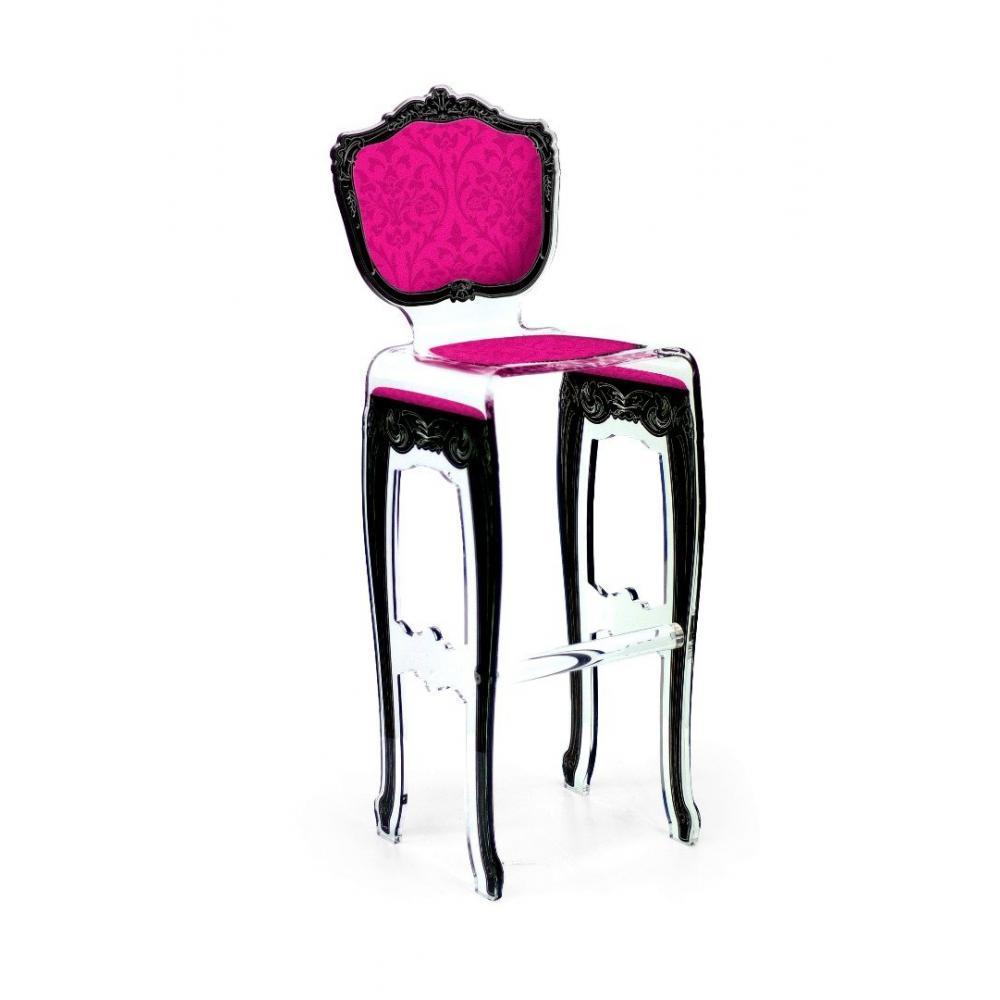 chaises meubles et rangements tabouret de bar barok rose. Black Bedroom Furniture Sets. Home Design Ideas