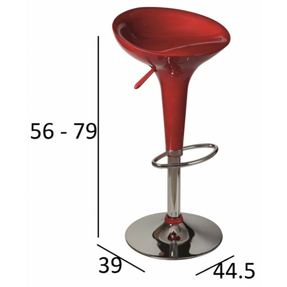 Tabouret de bar design tendance retro au meilleur prix lot de 2 tabou - Chaises de bar rouge ...