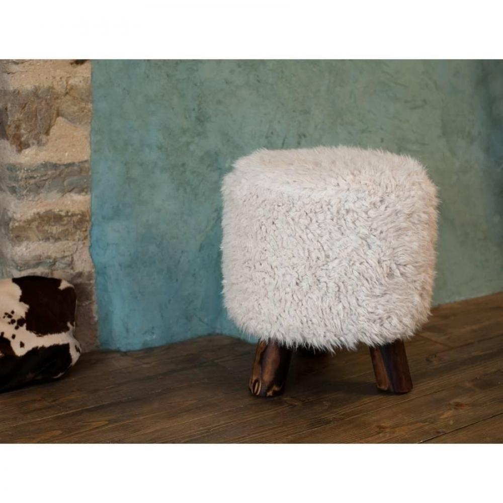 fauteuils poufs design au meilleur prix tabouret biquette rond design kate en pin et tissu. Black Bedroom Furniture Sets. Home Design Ideas