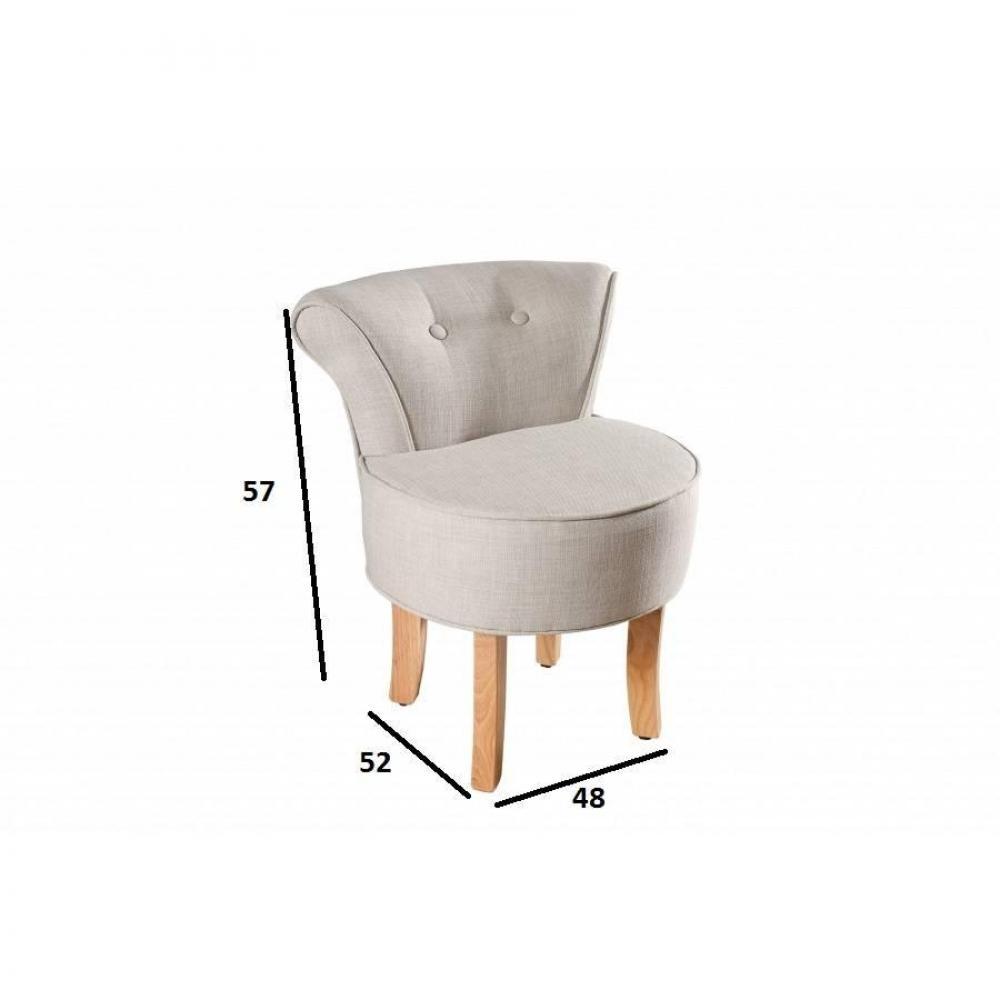 fauteuils poufs design au meilleur prix tabouret rond avec dossier kate tissu coloris lin. Black Bedroom Furniture Sets. Home Design Ideas