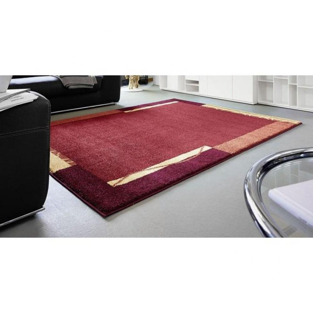 SAMOA DESIGN Tapis patchwork bordeaux et orange - 200x290 cm