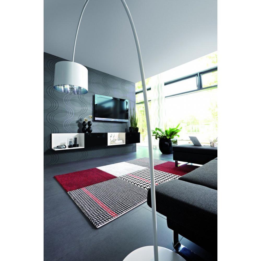 tapis de sol meubles et rangements maison tapis patchwork bordeaux 140x200 cm inside75. Black Bedroom Furniture Sets. Home Design Ideas