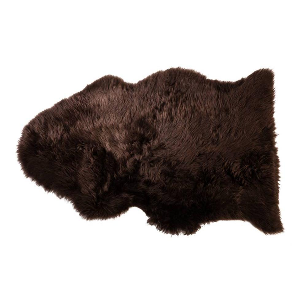 tapis peaux luminaires tapis en peau de mouton sheepskin shaun marron inside75. Black Bedroom Furniture Sets. Home Design Ideas