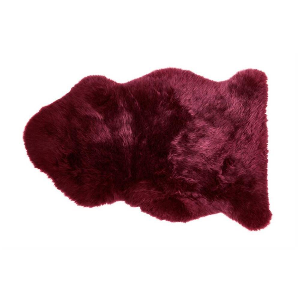 Tapis en peau de mouton SHEEPSKIN SHAUN rouge