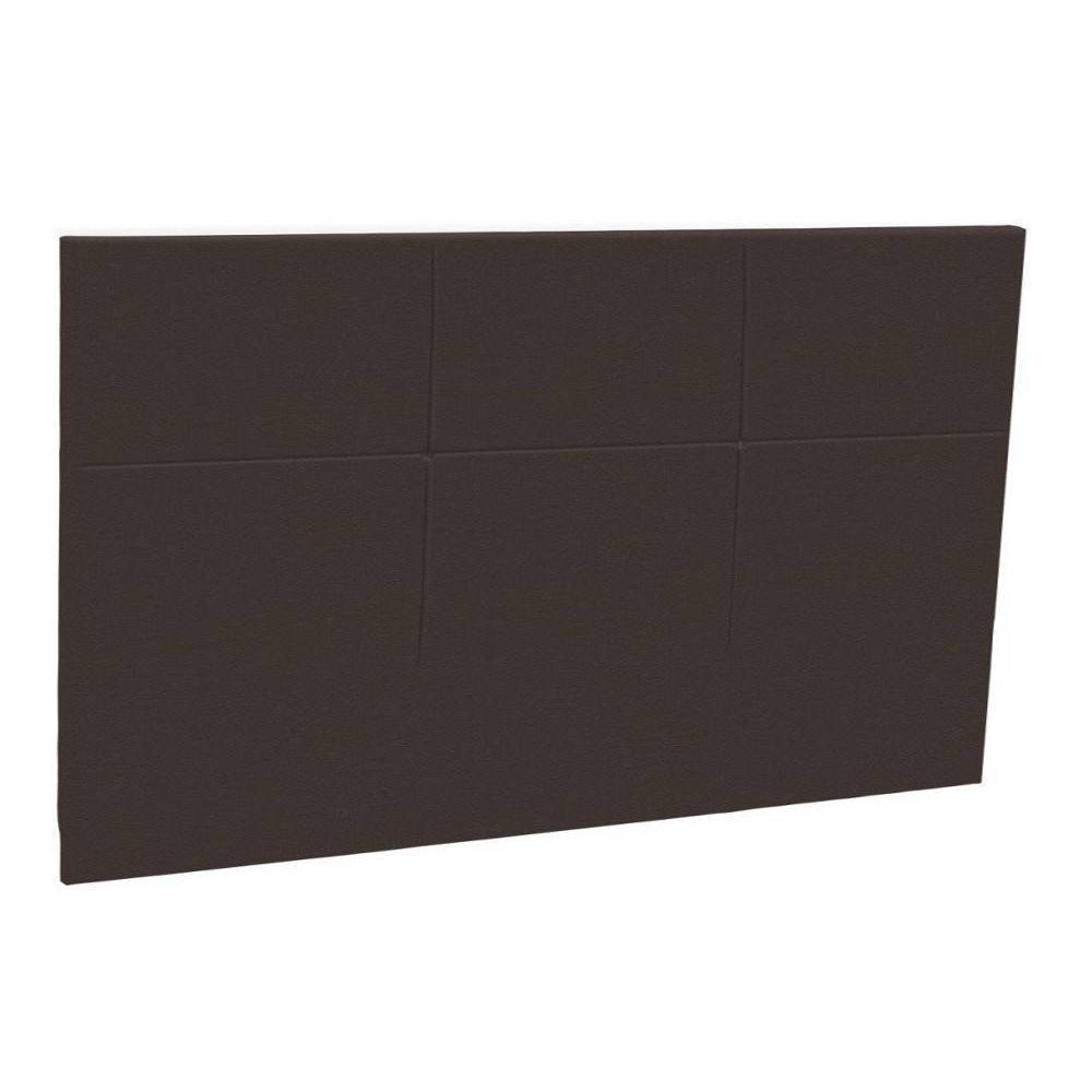 t te de lit au meilleur prix t te de lit chic epeda enduit chocolat fa on cuir inside75. Black Bedroom Furniture Sets. Home Design Ideas