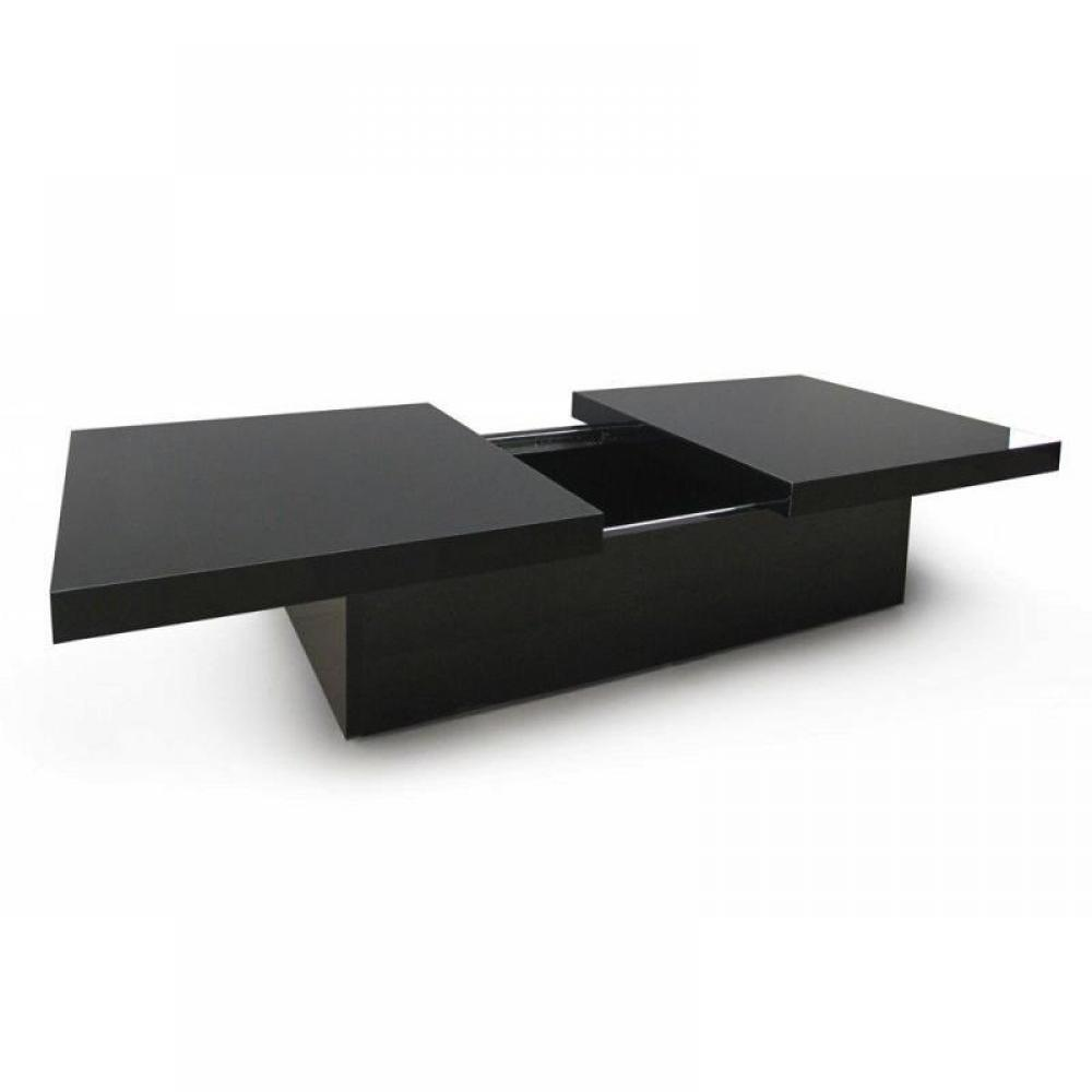 Table basse noir laque maison design for Table basse noir laque