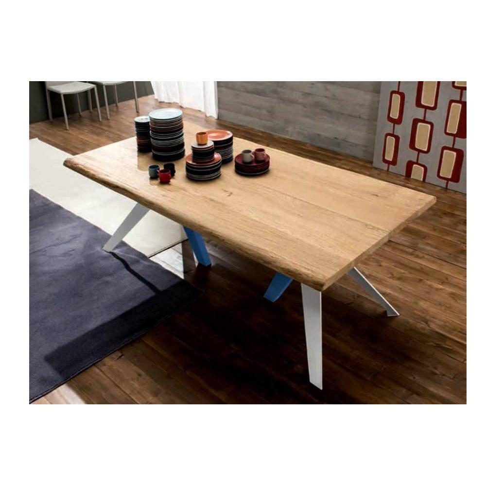 table de repas design au meilleur prix trio table repas en ch ne naturel pi tement en bois. Black Bedroom Furniture Sets. Home Design Ideas