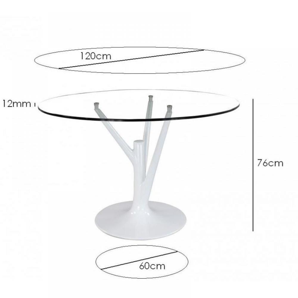 Table de repas design au meilleur prix table ronde de for Table ronde pied tulipe