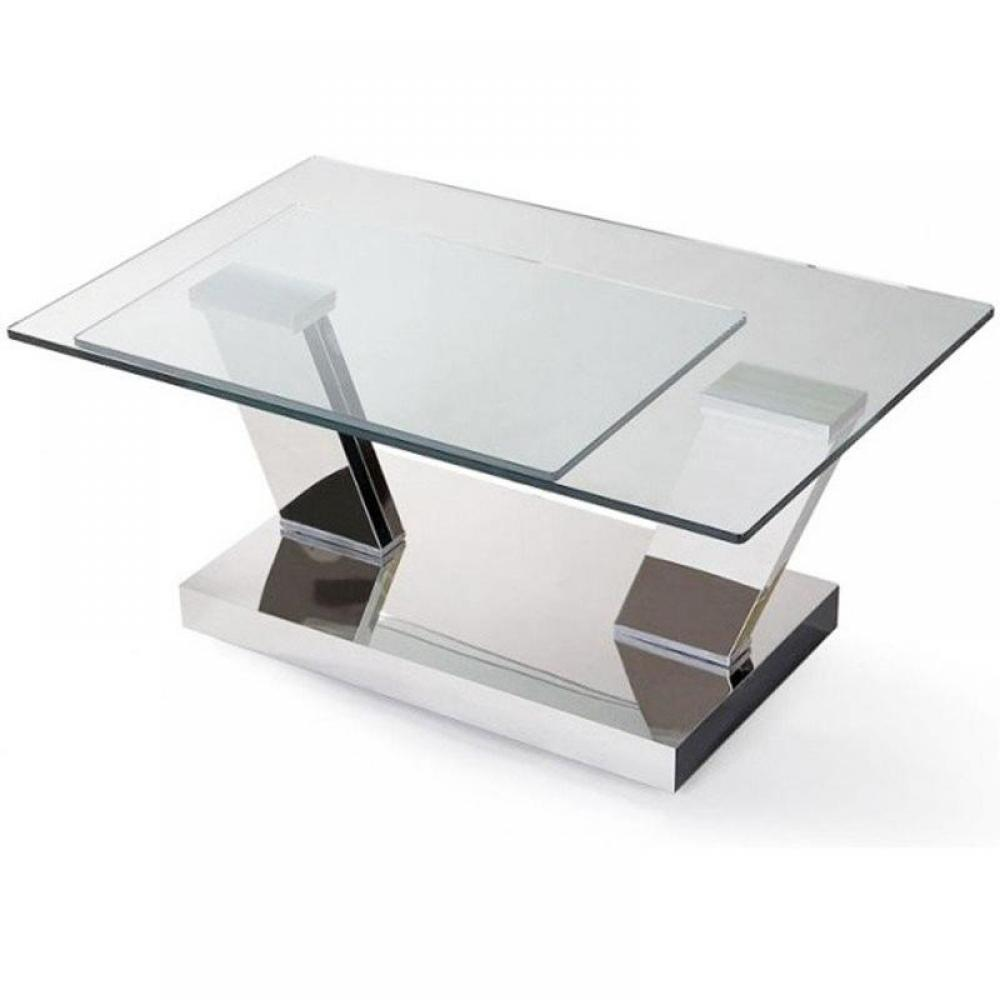Table basse carr e ronde ou rectangulaire au meilleur prix table basse design twin glass - Table basse luxe design ...