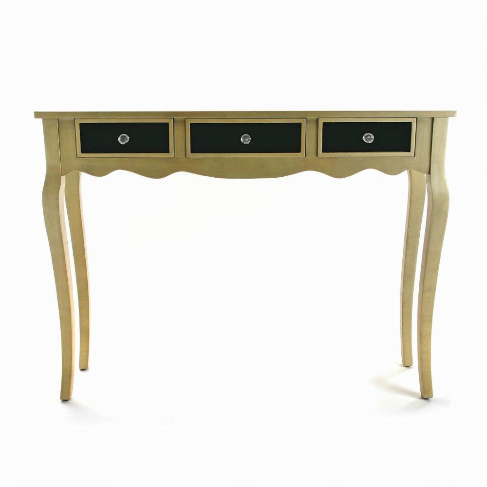 console design ultra tendance au meilleur prix varese console en verre noir design dor 3. Black Bedroom Furniture Sets. Home Design Ideas