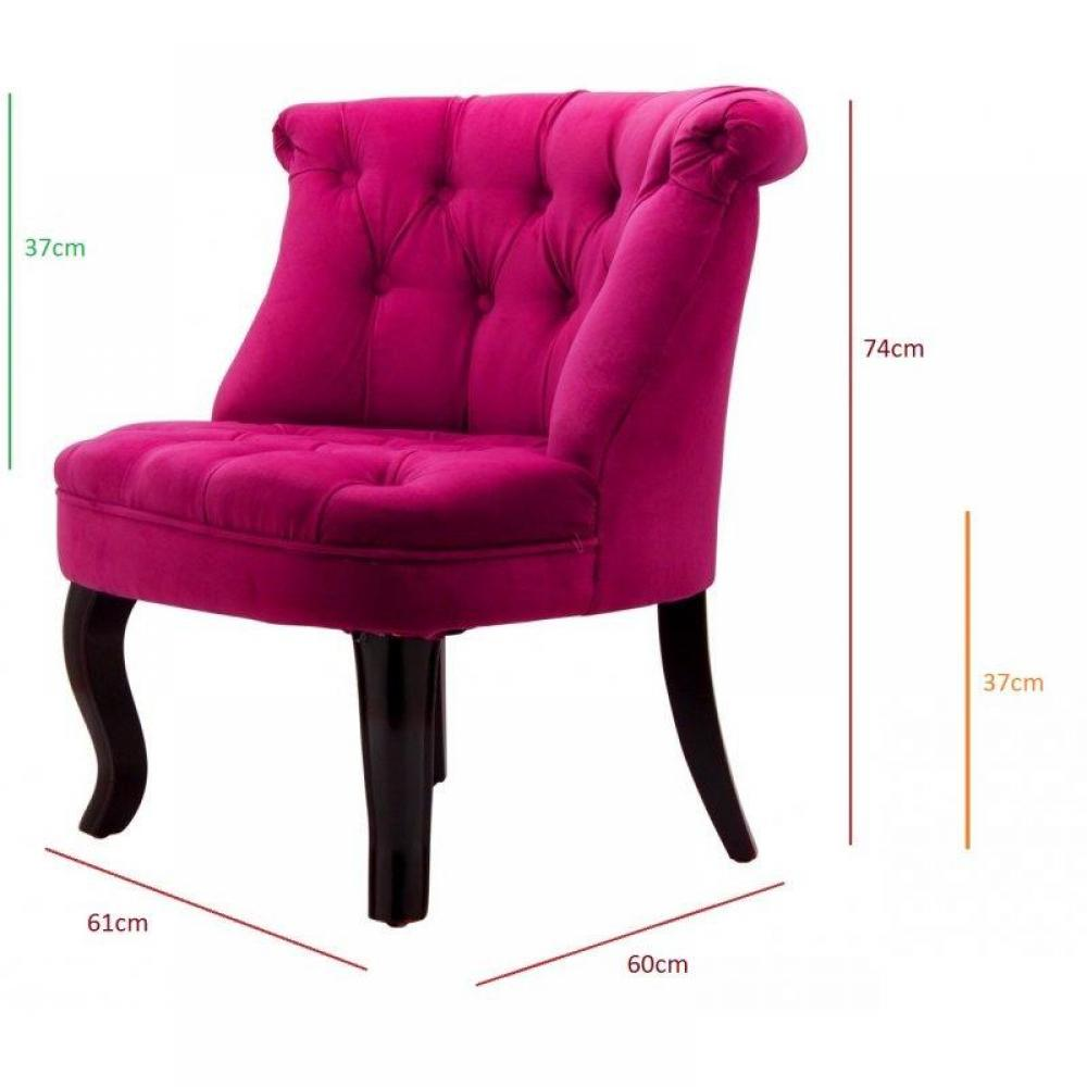 Tapis de sol meubles et rangements fauteuil capitonn - Fauteuil crapaud fushia ...
