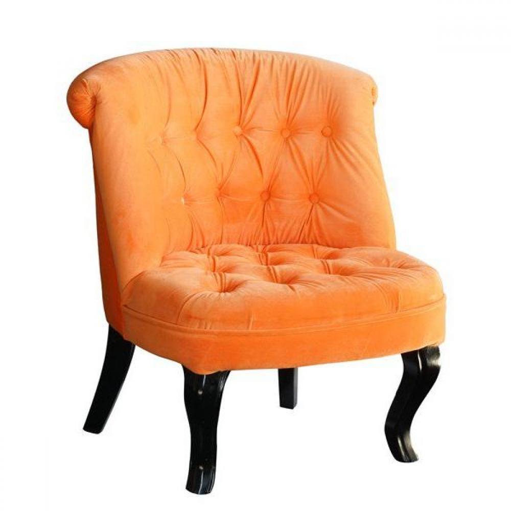 Fauteuil Design Orange Fauteuil Velours Orange Fauteuil Design Salon Club Fauteuil En
