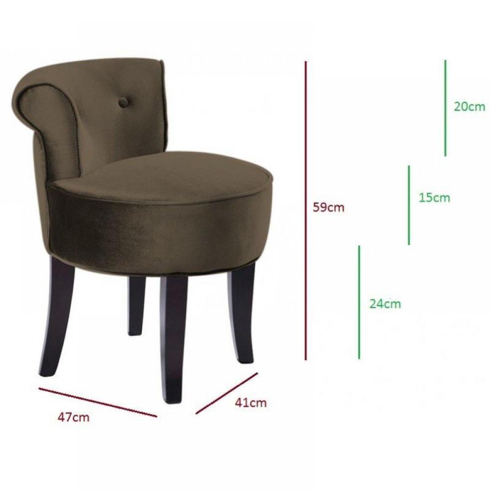 Fauteuils et poufs meubles et rangements petit fauteuil design crapaud vers - Fauteuil crapaud velours taupe ...