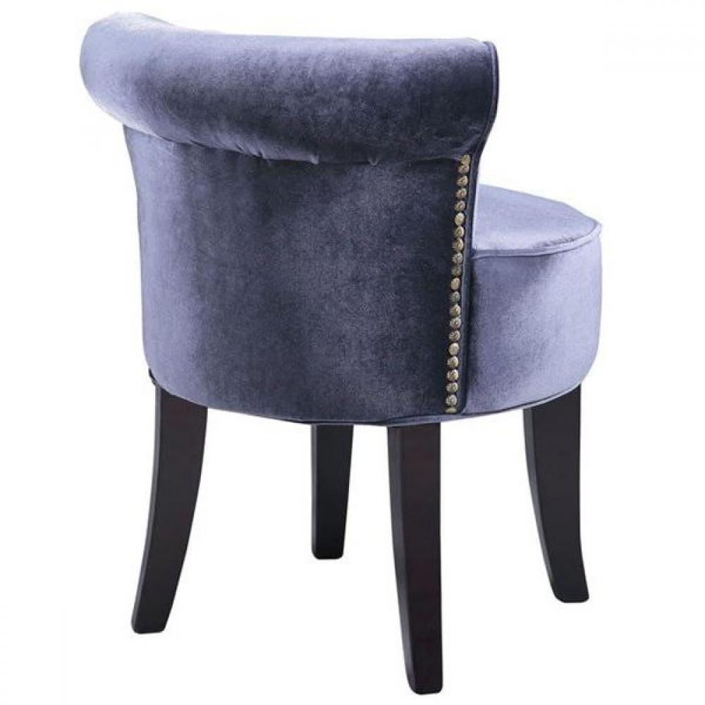 tapis de sol meubles et rangements petit fauteuil design crapaud versailles en velours gris. Black Bedroom Furniture Sets. Home Design Ideas