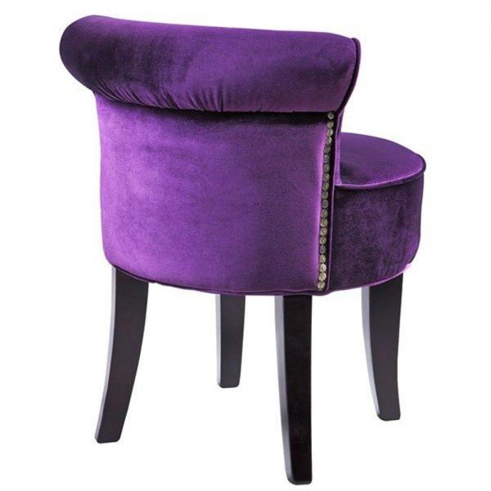 tapis de sol meubles et rangements petit fauteuil design crapaud versailles en velours violet. Black Bedroom Furniture Sets. Home Design Ideas
