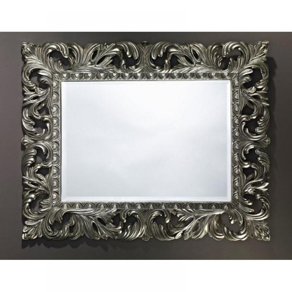 miroirs meubles et rangements vinci miroir mural en verre de style classique argent inside75. Black Bedroom Furniture Sets. Home Design Ideas