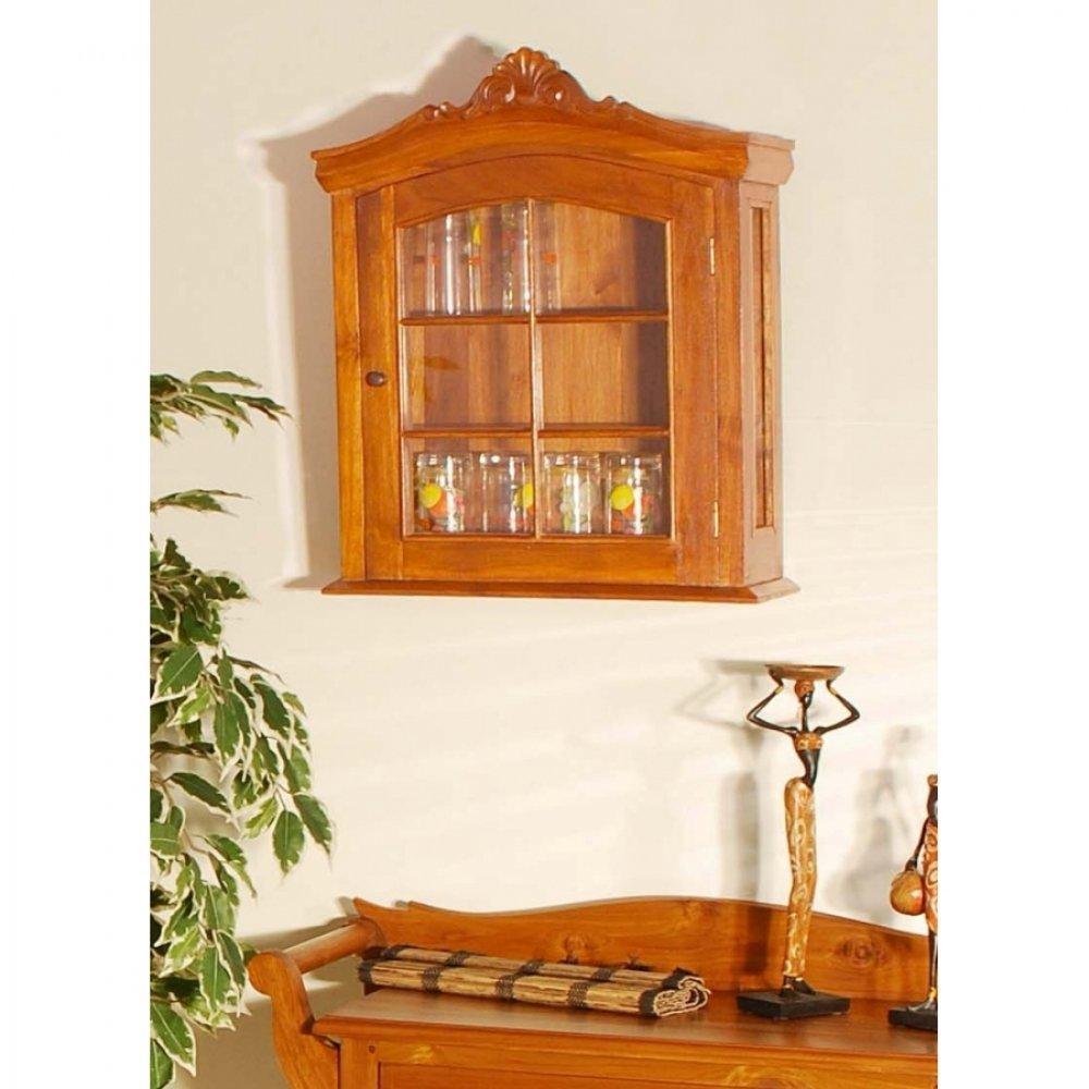 buffets meubles et rangements vitrine design dan en teck blanchi inside75. Black Bedroom Furniture Sets. Home Design Ideas