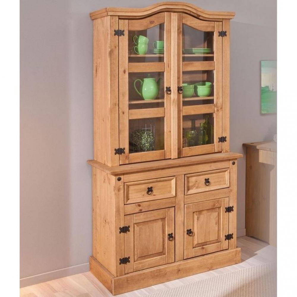 Meuble En Pin Ciré buffets, meubles et rangements, vitrine rustique mex en pin