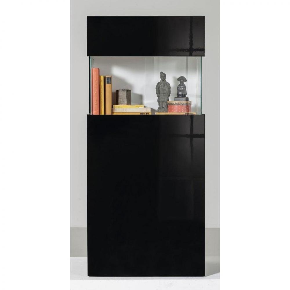 buffets meubles et rangements vitrine design treviso noir inside75. Black Bedroom Furniture Sets. Home Design Ideas