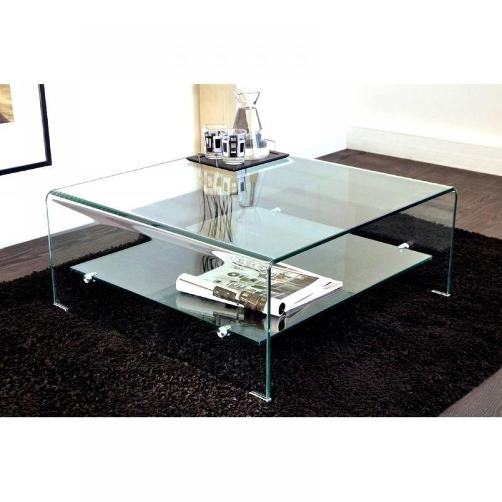 Table basse carr e ronde ou rectangulaire au meilleur - Tables basses design en verre ...