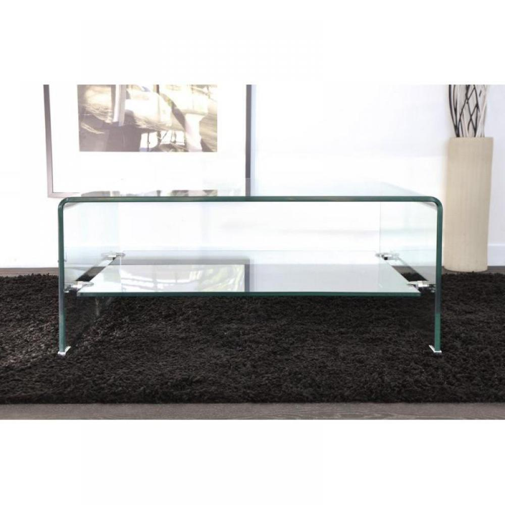 Table basse carr e ronde ou rectangulaire au meilleur - Tables basses en verre ...