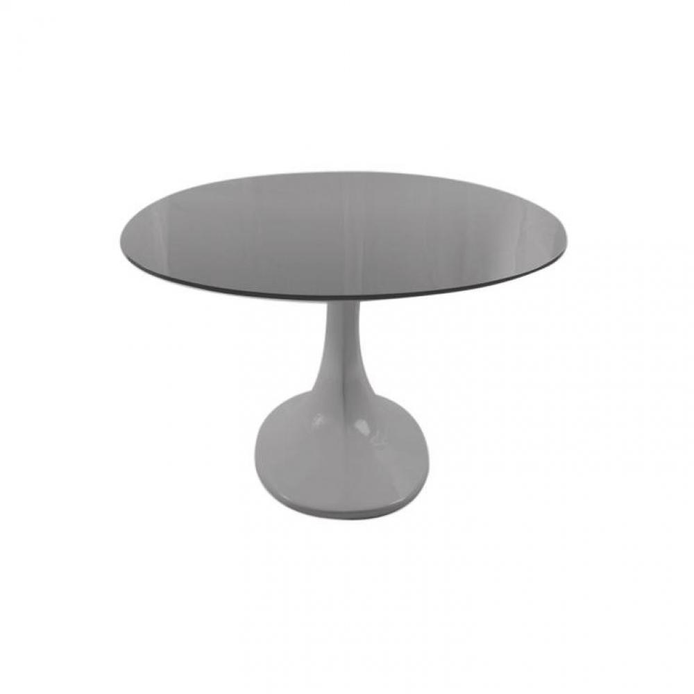 table de repas design au meilleur prix table de repas design wave tulipe ovale laque grise. Black Bedroom Furniture Sets. Home Design Ideas