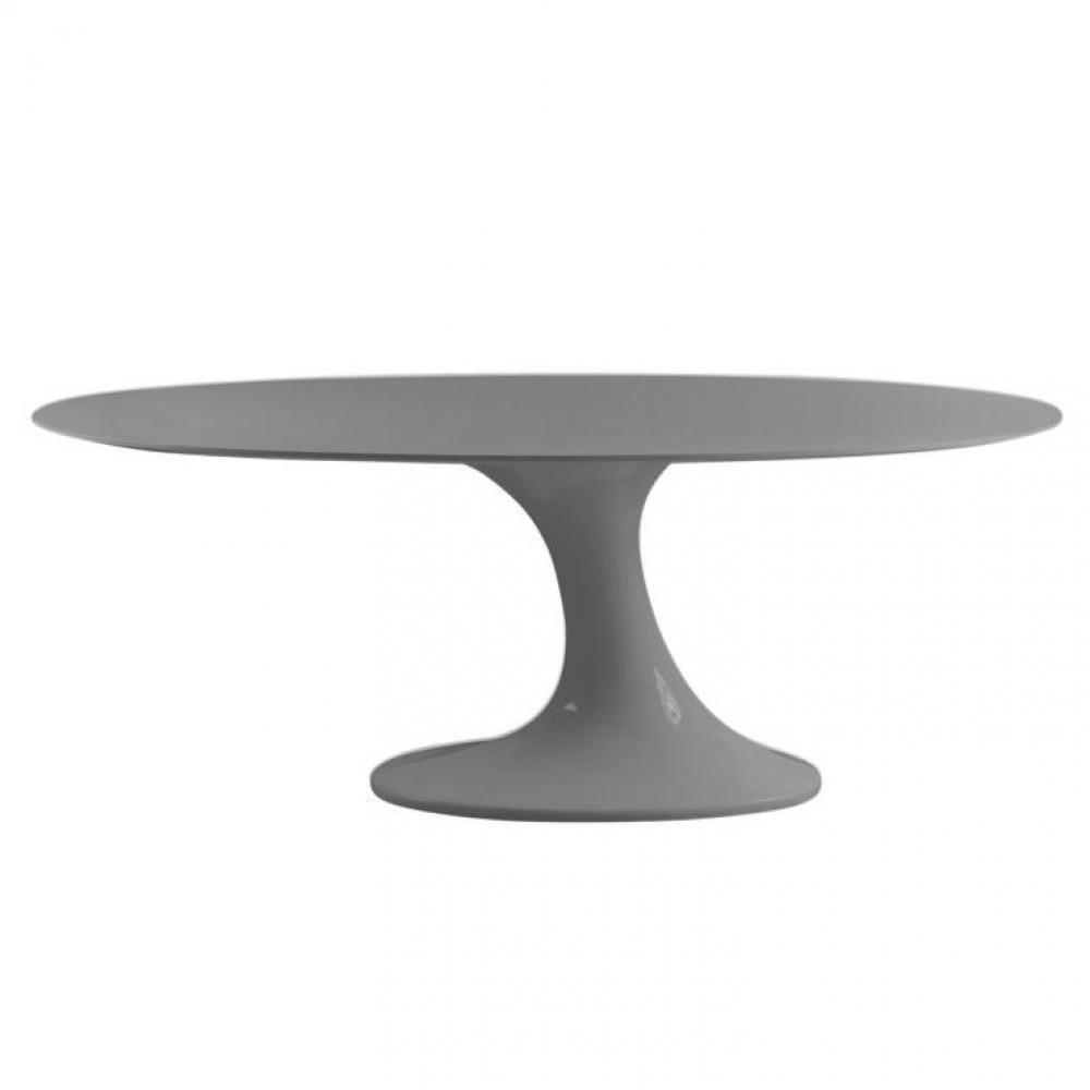 Tables repas meubles et rangements table repas ovale design tulipe laqu g - Table ovale extensible design ...