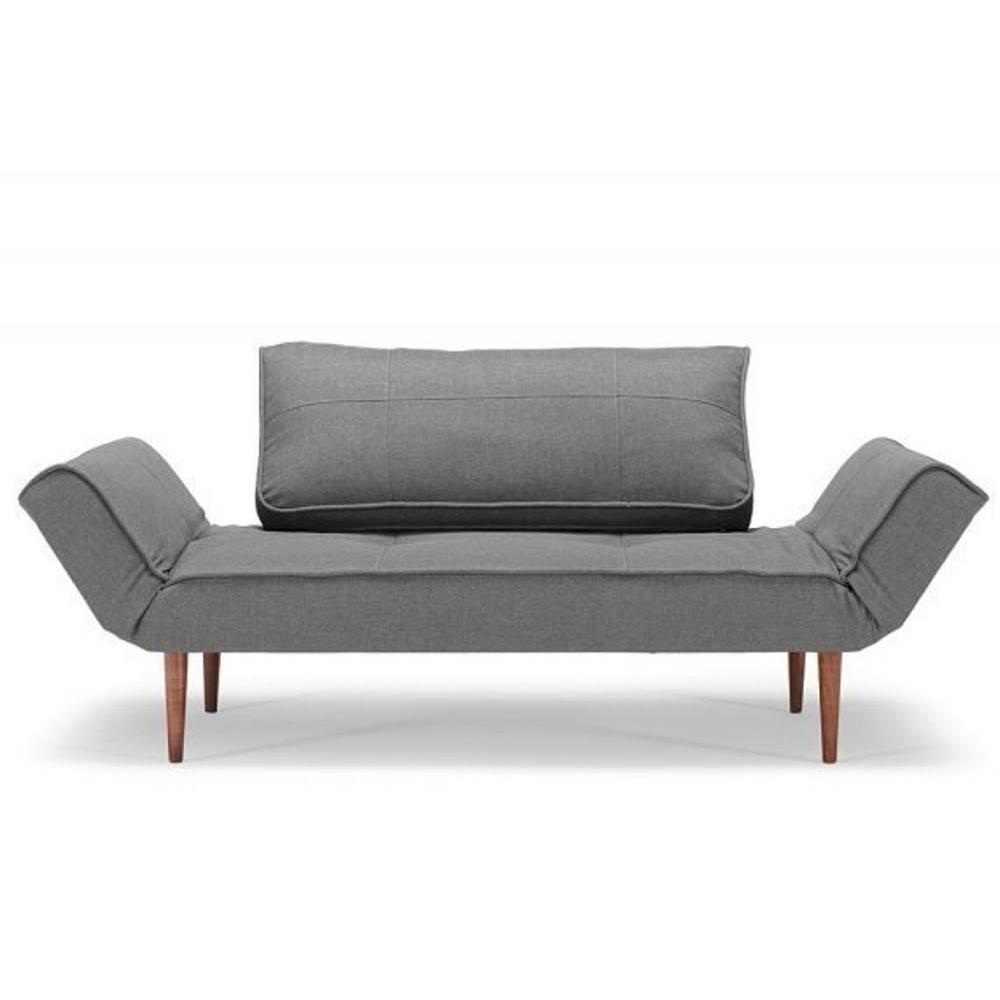 canape design zeal styletto flashtex dark grey convertible lit 200 70 cm ebay. Black Bedroom Furniture Sets. Home Design Ideas