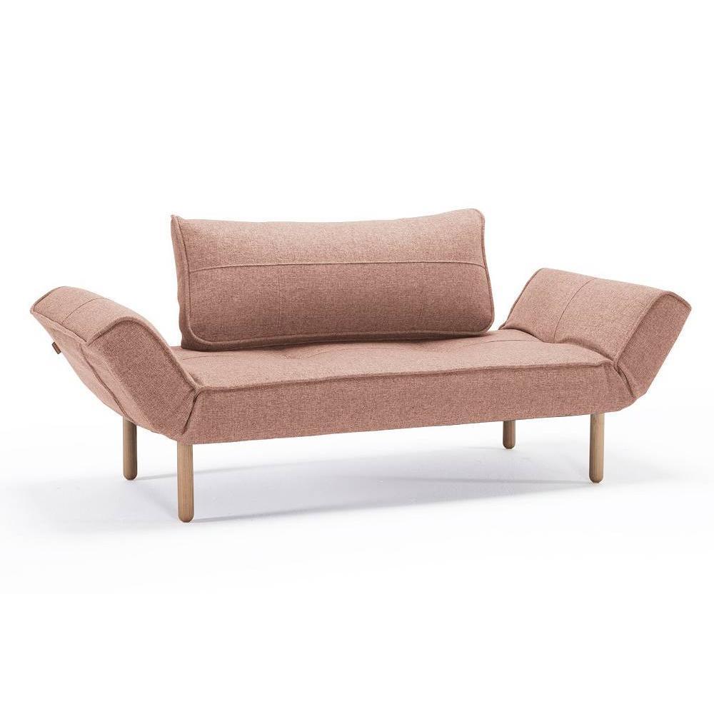 Canapé droit 3 places Rouge Tissu Moderne Petit