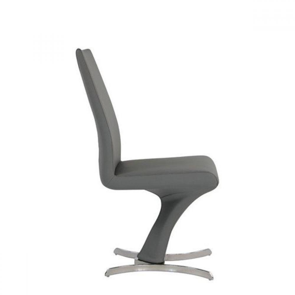 Chaise design ergonomique et stylis e au meilleur prix chaise design zoe sim - Chaise simili cuir gris ...