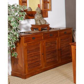 buffets bas meubles et rangements bahut indon sien api 3 portes 3 tiroirs en teck style. Black Bedroom Furniture Sets. Home Design Ideas