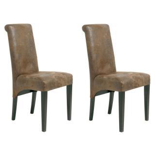 Lot de 2 chaises Haute Design ALTO Style Vintage