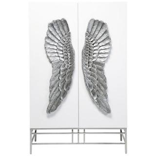 Armoire ANGEL laqué blanc, 2 portes