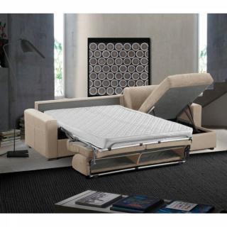 Canapé d'angle réversible EXPRESS MASTER COUCHAGE 160cm MATELAS 18CM sommier lattes RENATONISI