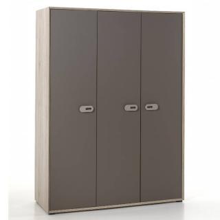 Armoire AMAURY chêne/marron 3 portes