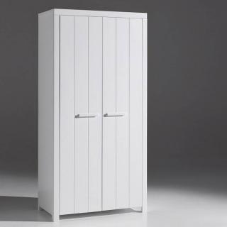 Armoire ANTONIN blanche avec 2 portes