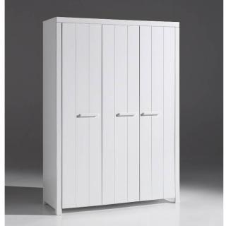 Armoire ANTONIN blanche avec 3 portes